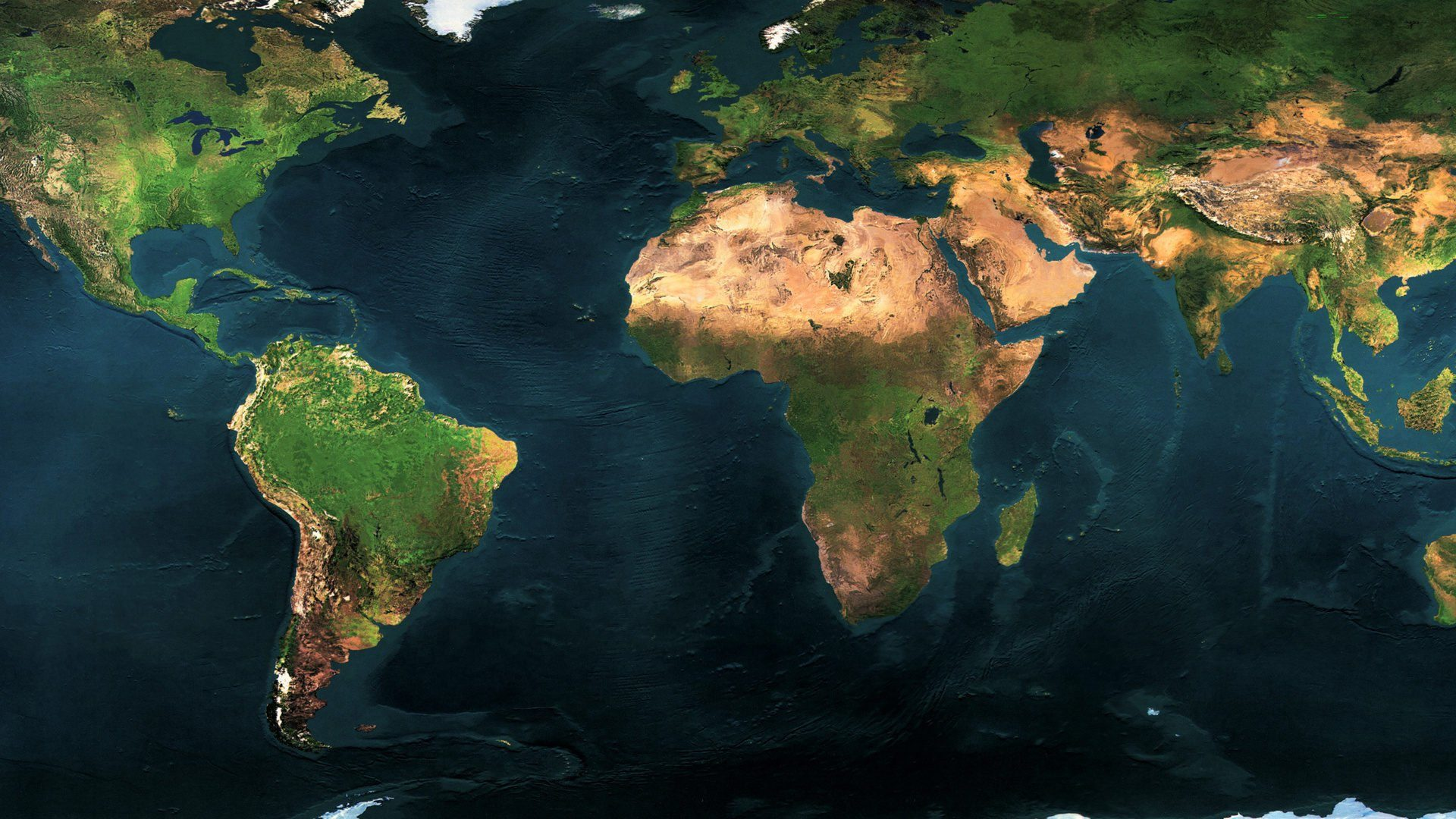 World Physical Map Of The World 089604