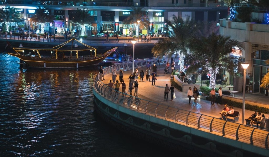 Spaziergang Dubai Marina